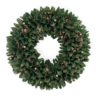 Gold Tip Yuletide Green Wreath