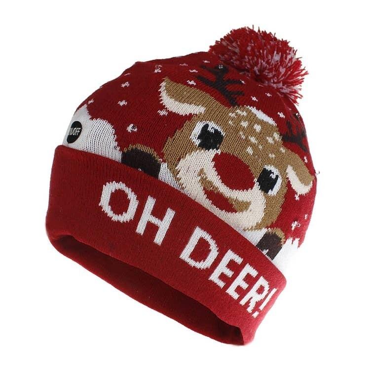 LED Oh Deer! Beanie Hat