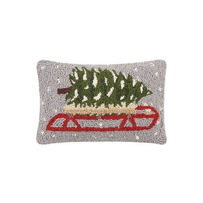 Tree on Sled Pillow