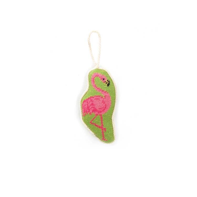 Flamingo Needlepoint Ornament