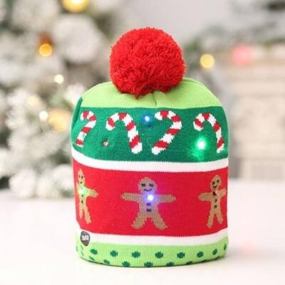 LED Christmas Beanie Hat