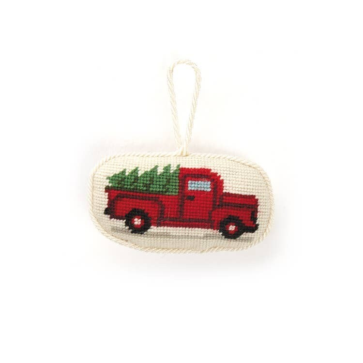Red Truck Needlepoint Ornament