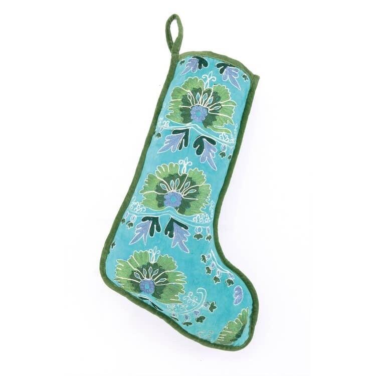 Blue Velvet Stocking