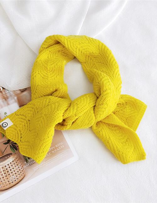 Maple Leaf Short Scarf.. Yellow