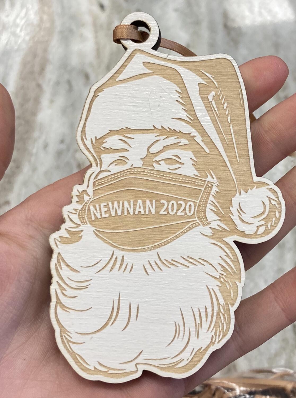 Newnan Birch Wood Santa Ornament 2020
