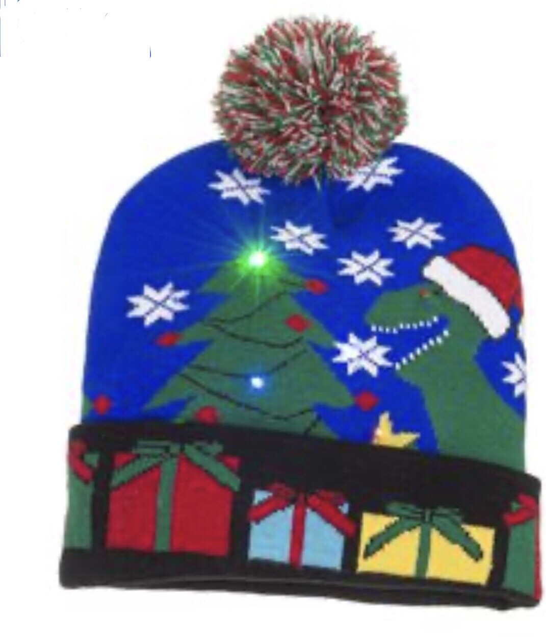 LED T-Rex Beanie Hat