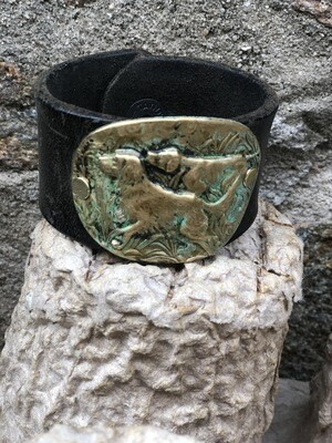 Hunting Dogs Leather Cuff