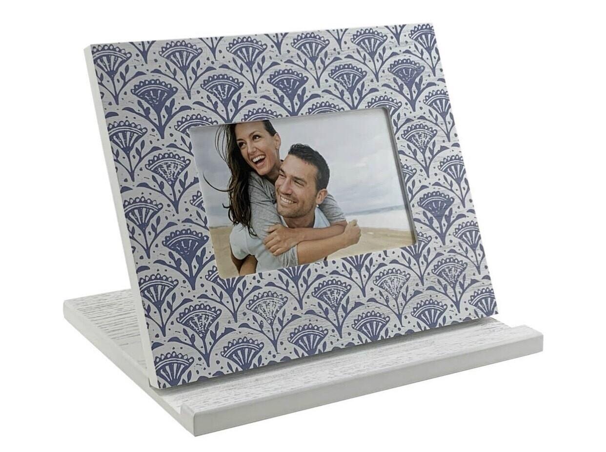 Blue Floral Tablet Stand/Frame