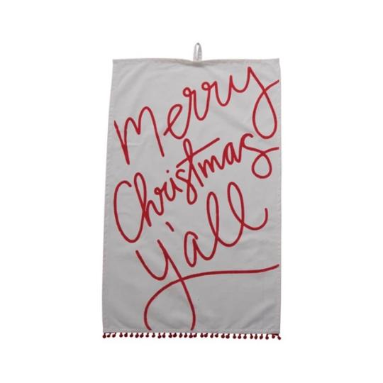 Set/2 Merry Christmas Y'all Dishtowels