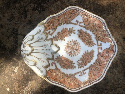 Vintage Asian Scalloped Chinoiserie Bowl