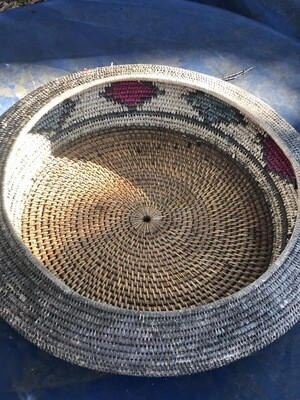Large African Basket with Lid