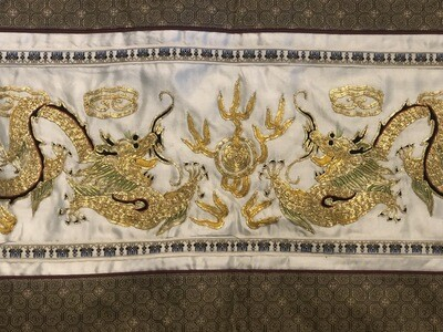 Silk Dragon Embroidered Art