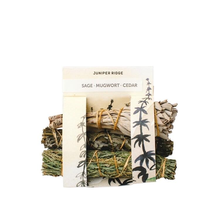 Cedar, Mugwort, and Sage Mini Bundles