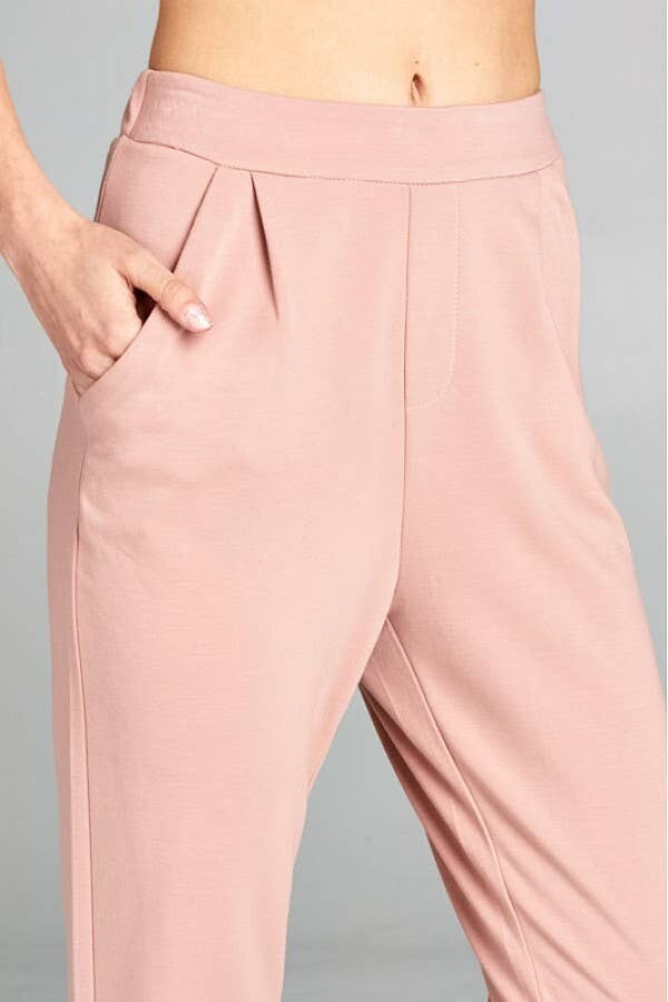 Dusty Pink Woven Pants