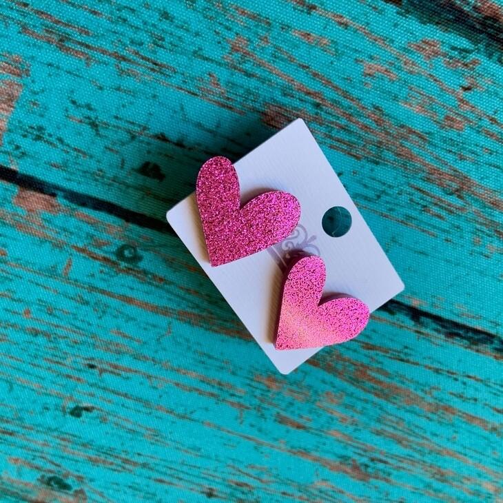 Valentine's Heart Studs