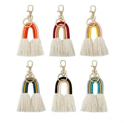 Macramé Rainbow Keyrings