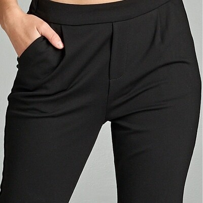 Black Woven Pants