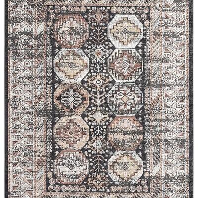 Azure Bokhara Tribal Geometric Rug