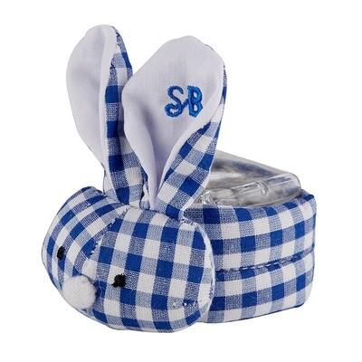 Blue Gingham Boo Bunny