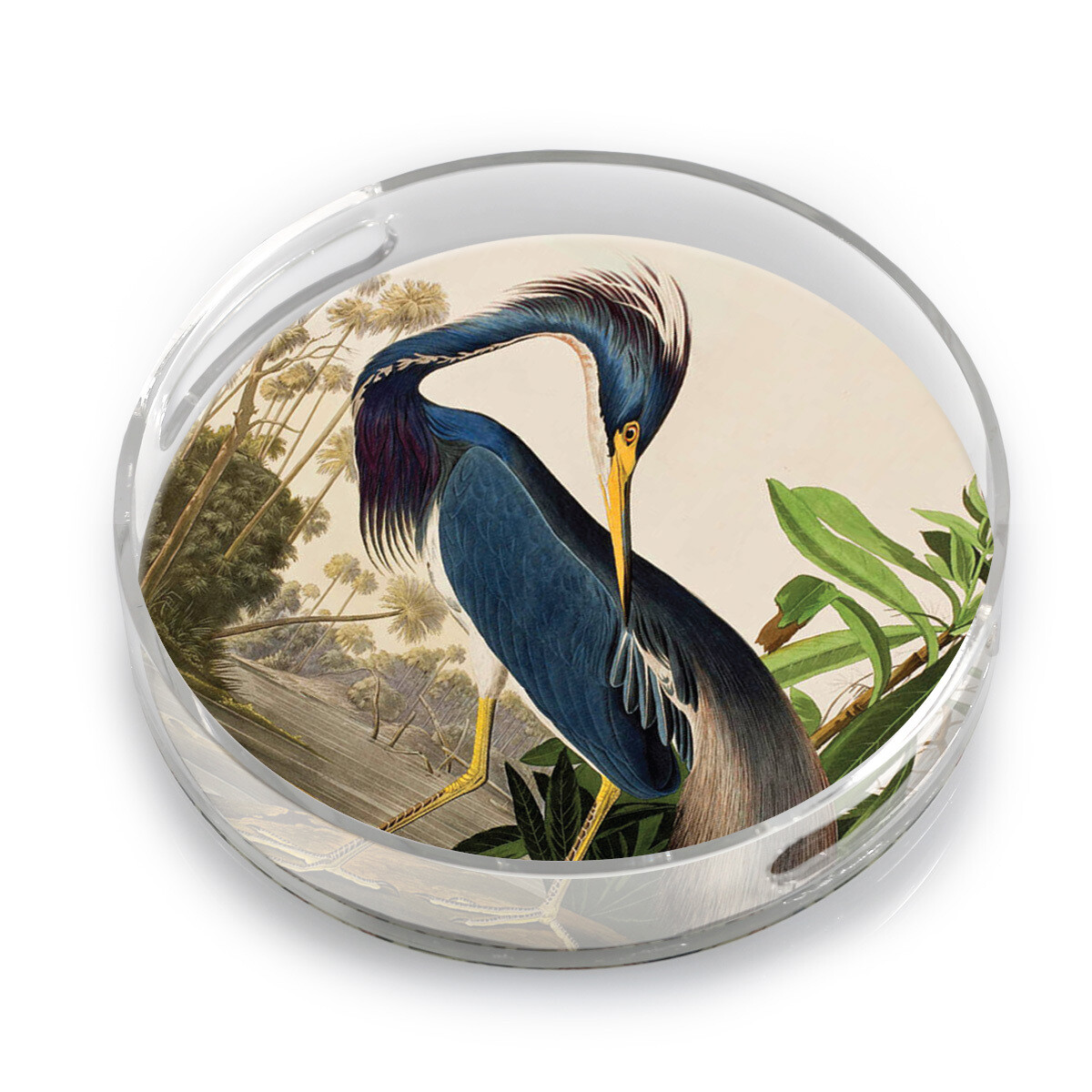 """10"""" Lucite Tray-Heron"""