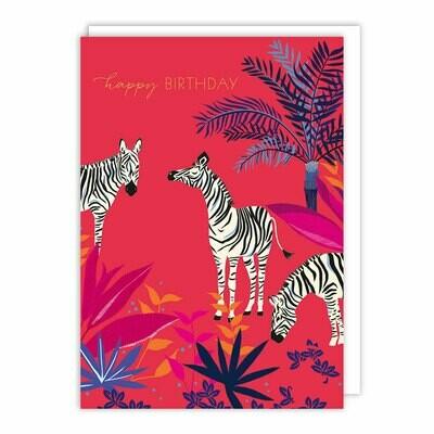 Zebra Happy Birthday Card