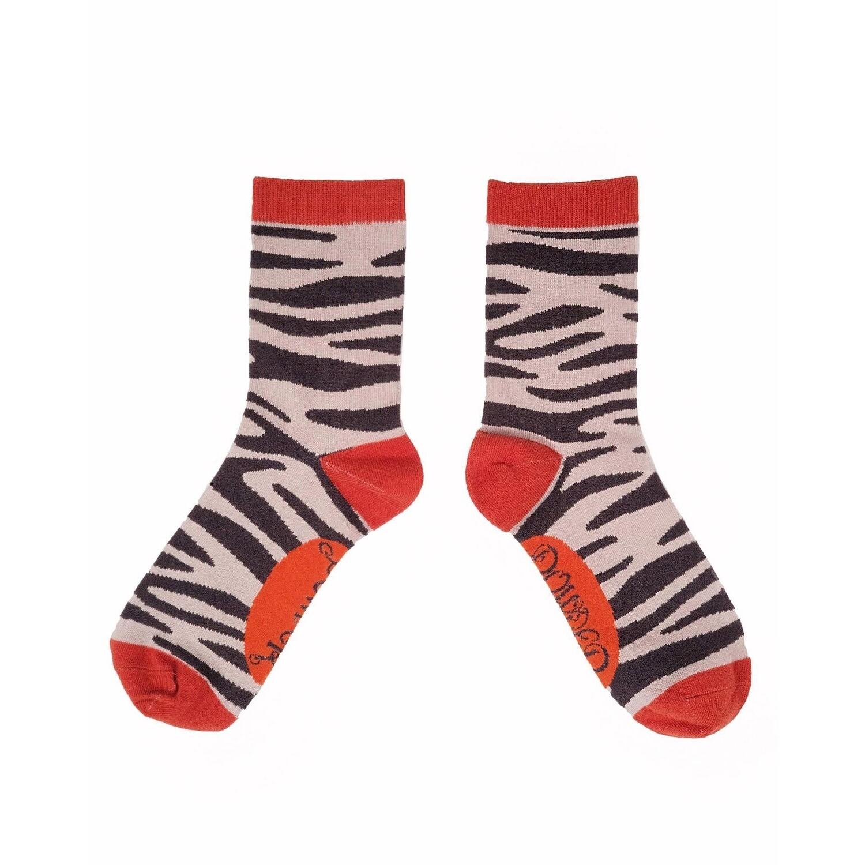 Ladies Socks Zebra