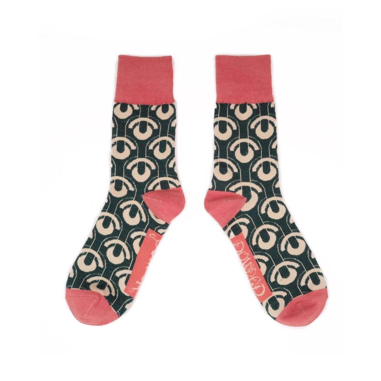 Men's Art Deco Scallops Socks