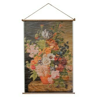 Bamboo Scroll Vintage Flowers
