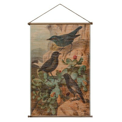 Bamboo Scroll Vintage Birds