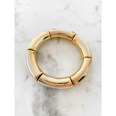 Gold Acrylic Bamboo Bangle Bracelet