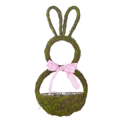 "24"" Bunny Wreath with Basket"