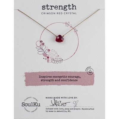 Strength: Crimson Red Crystal Necklace