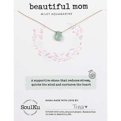 Beautiful Mom: Milky Aquamarine Luxe Necklace