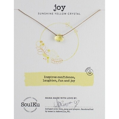 Joy: Yellow Crystal Necklace