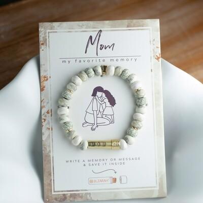 Clay Beaded Bracelet & Message Holder