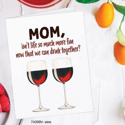 Mom Vino Card