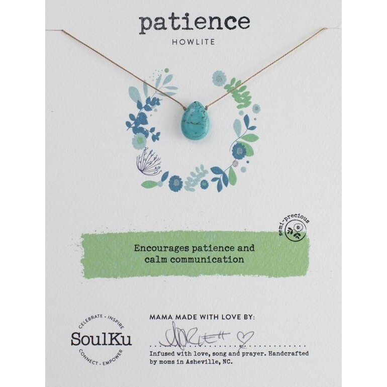 Patience: Howlite Necklace