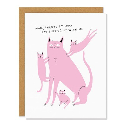 Patient Cat Mother's Day Card