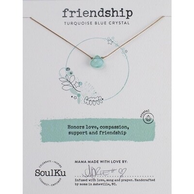 Friendship: Turquoise Crystal Necklace