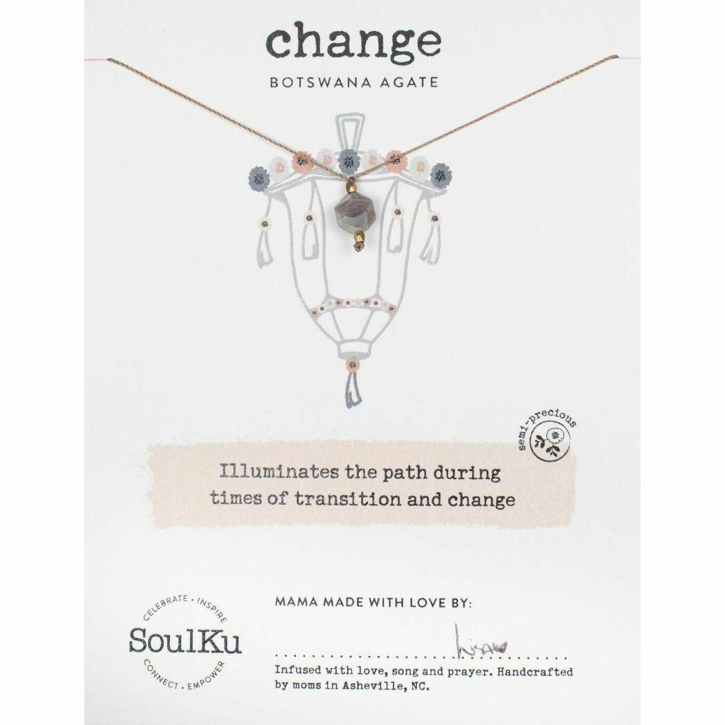 Change: Botswana Agate Necklace