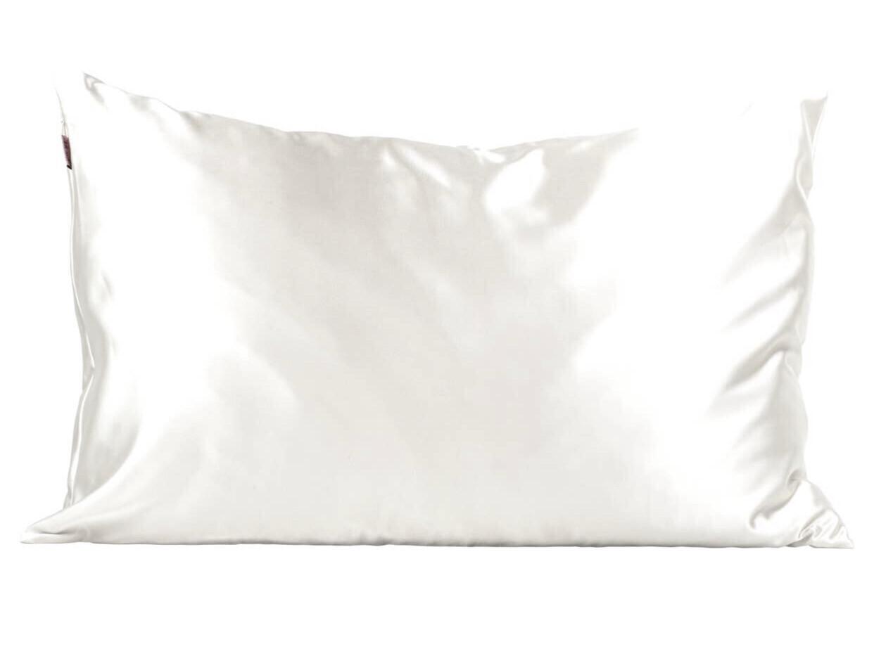 Ivory Standard Satin Pillowcase