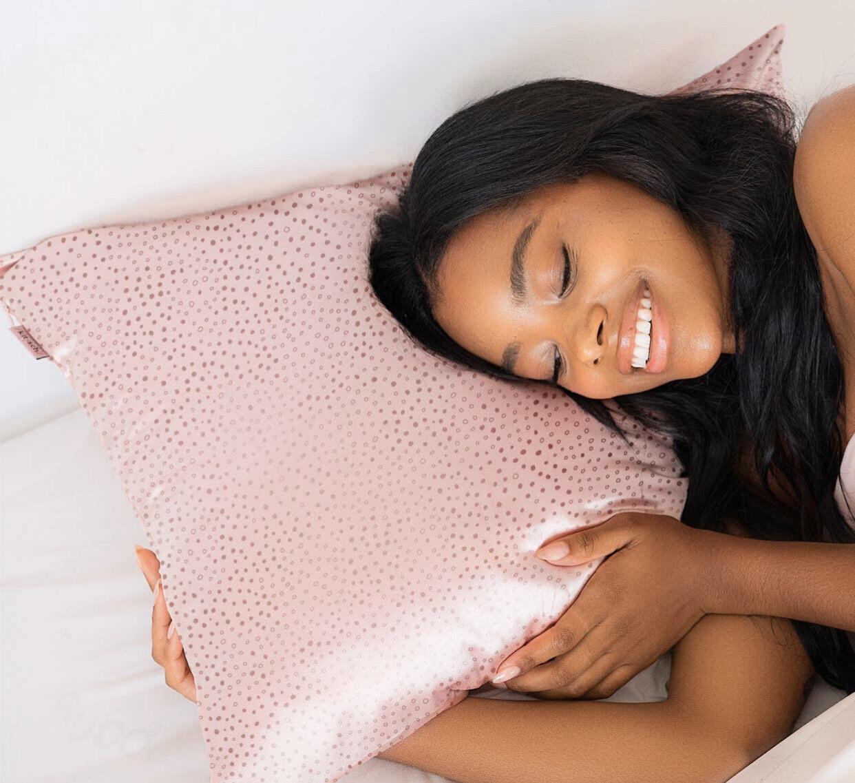 Micro Dot Standard Satin Pillowcase