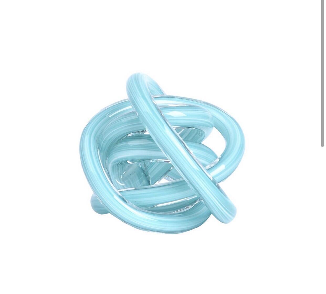 Small Aqua Glass Knot