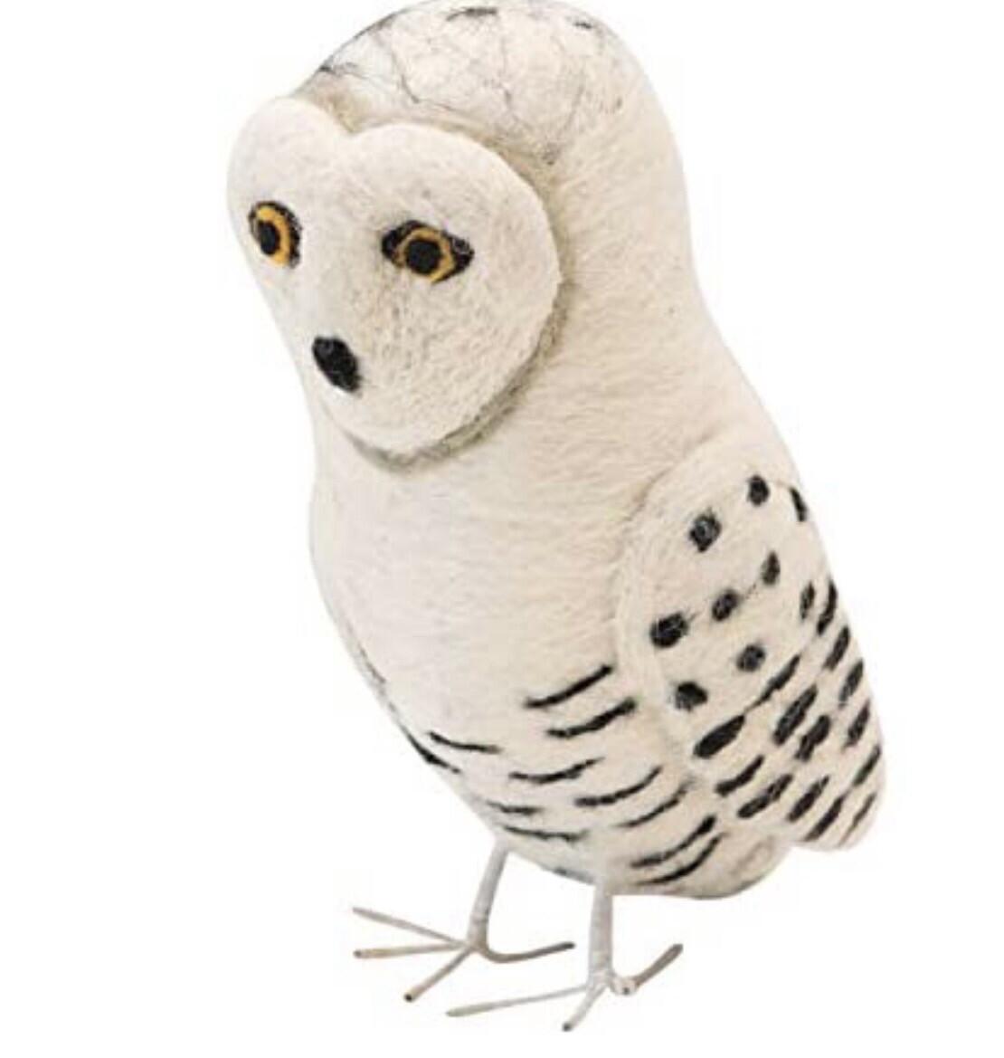 Felted Snow Owl