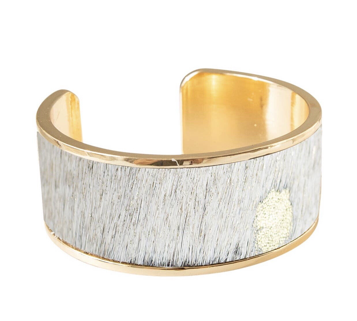 Animal Hide Gold Cuff
