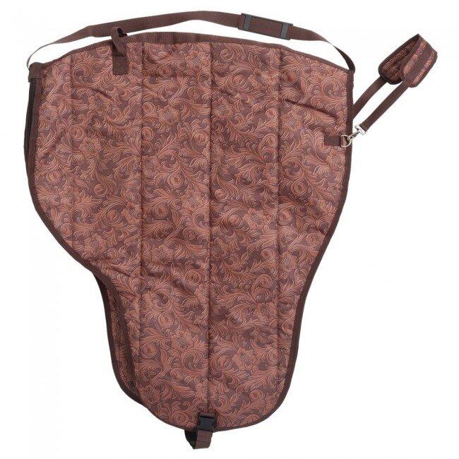 Opbergtas westernzadel Tooled Leather Brown