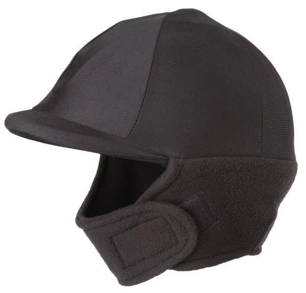 Winter cap cover met fleece zwart