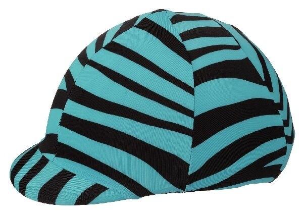 Stretch cap cover zebra aqua
