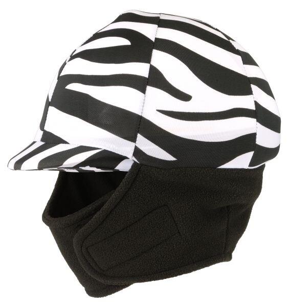 Winter cap cover met fleece, zebra