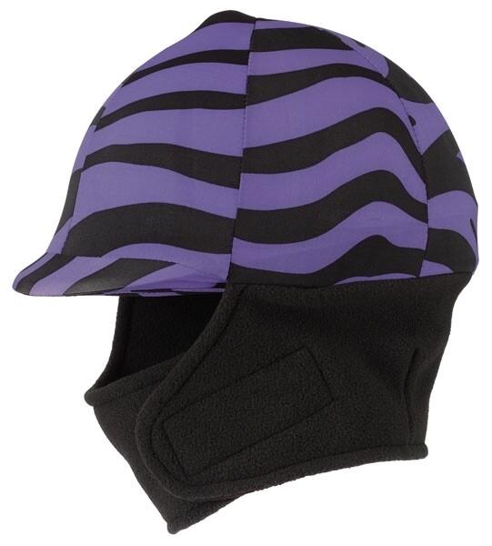Winter cap cover met fleece, zebra paars
